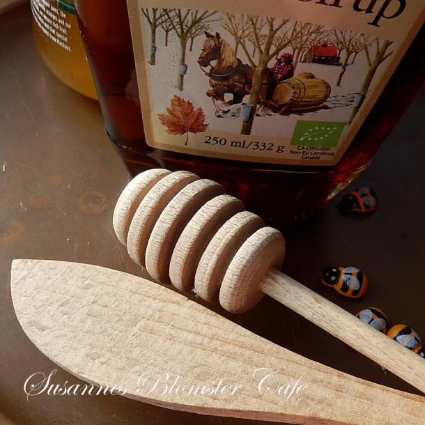 Honningske og spartel i bøgetræ - sæt