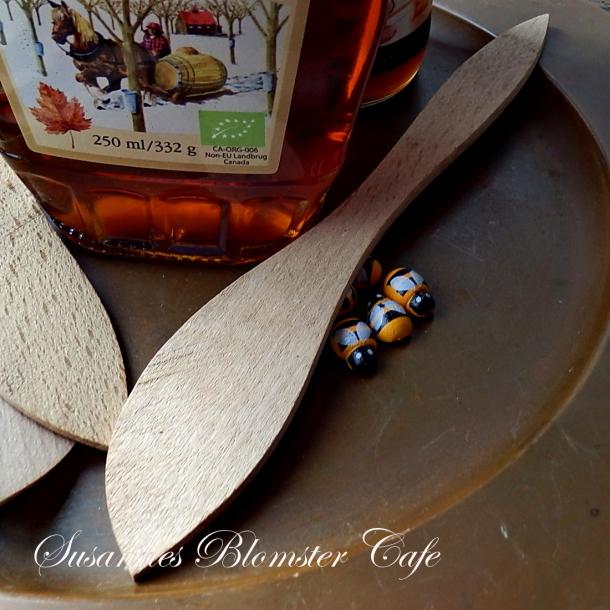 Honningspartel i bøgetræ - 2 stk.